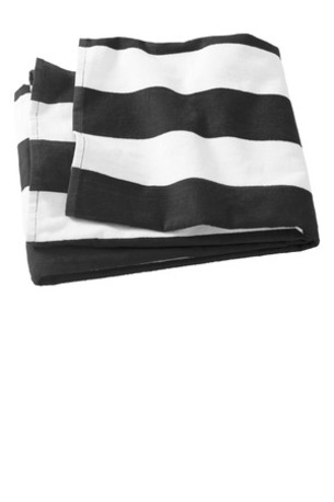 Port & Company ®  Cabana Stripe Beach Towel. PT43