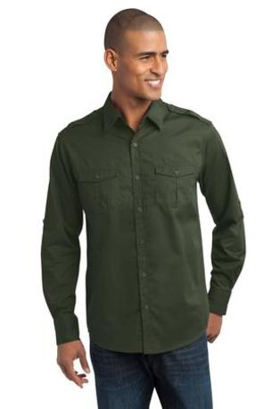 Port Authority ®  Stain-Resistant Roll Sleeve Twill Shirt. S649