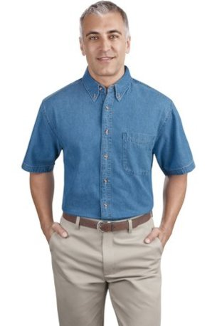 Port & Company ®  - Short Sleeve Value Denim Shirt. SP11