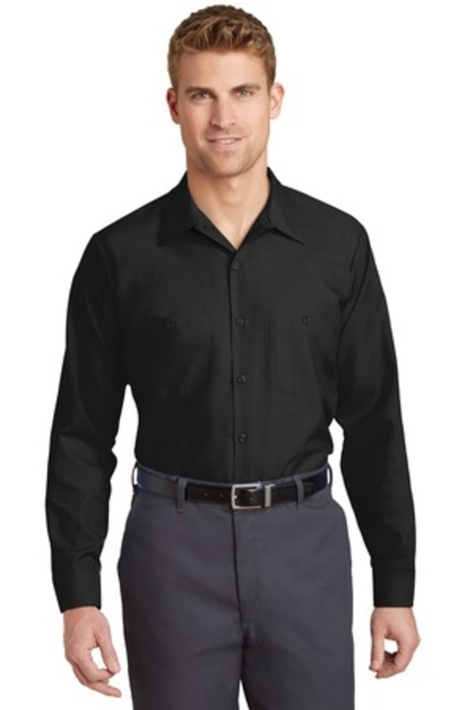 Red Kap ®  Long Size, Long Sleeve Industrial Work Shirt. SP14LONG