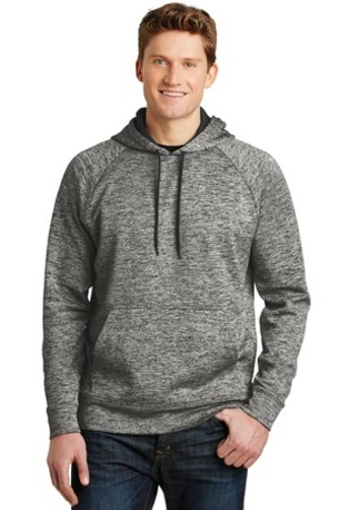 Sport-Tek ®  PosiCharge ®  Electric Heather Fleece Hooded Pullover. ST225