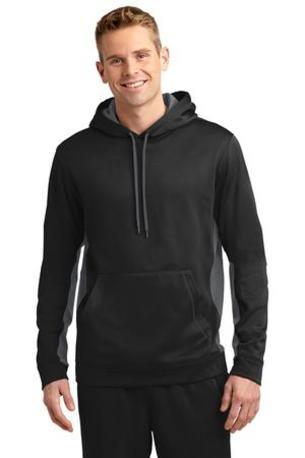 Sport-Tek ®  Sport-Wick ®  Fleece Colorblock Hooded Pullover. ST235