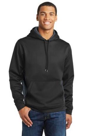 Sport-Tek ®  Sport-Wick ®  CamoHex Fleece Colorblock Hooded Pullover. ST239