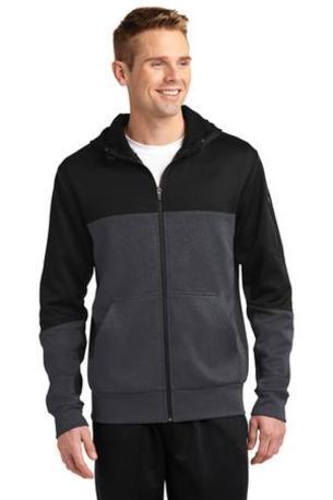 Sport-Tek ®  Tech Fleece Colorblock Full-Zip Hooded Jacket. ST245