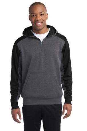 Sport-Tek ®   Tech Fleece Colorblock 1/4-Zip Hooded Sweatshirt. ST249