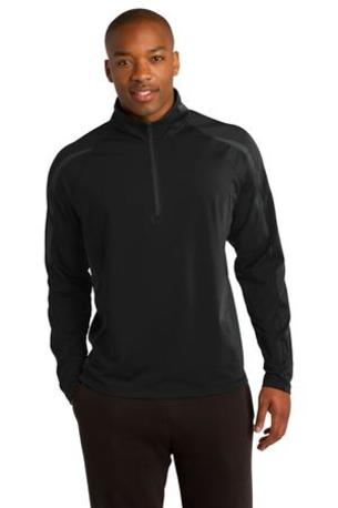 Sport-Tek ®  Sport-Wick ®  Stretch 1/2-Zip Colorblock Pullover. ST851