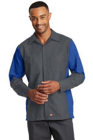 Red Kap ®  Long Sleeve Ripstop Crew Shirt. SY10