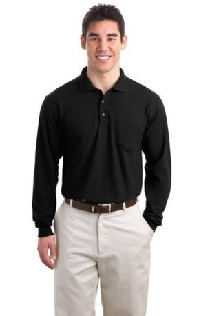 Port Authority ®  Tall Silk Touch- Long Sleeve Polo with Pocket. TLK500LSP