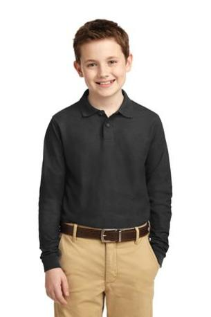 Port Authority ®  Youth Long Sleeve Silk Touch- Polo.  Y500LS