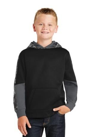 Sport-Tek ®  Youth Sport-Wick ®  Mineral Freeze Fleece Colorblock Hooded Pullover. YST231