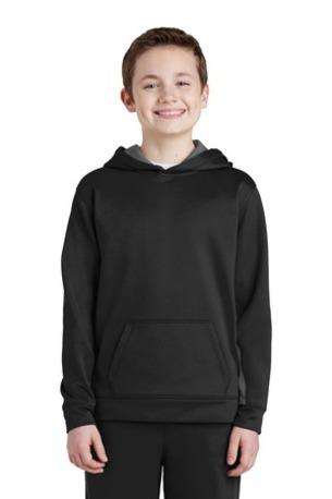 Sport-Tek ®  Youth Sport-Wick ®  Fleece Colorblock Hooded Pullover.  YST235