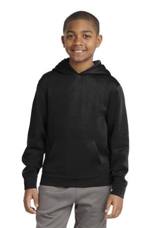 Sport-Tek ®  Youth Sport-Wick ®  Fleece Hooded Pullover. YST244