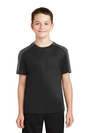 Sport-Tek ®  Youth PosiCharge ®  Competitor -  Sleeve-Blocked Tee. YST354