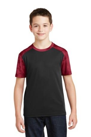 Sport-Tek ®  Youth CamoHex Colorblock Tee. YST371
