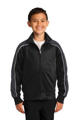 Sport-Tek ®  Youth Piped Tricot Track Jacket. YST92