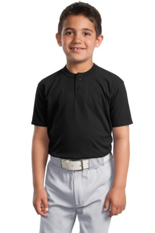 DISCONTINUED  Sport-Tek ®  Youth Short Sleeve Henley. YT210
