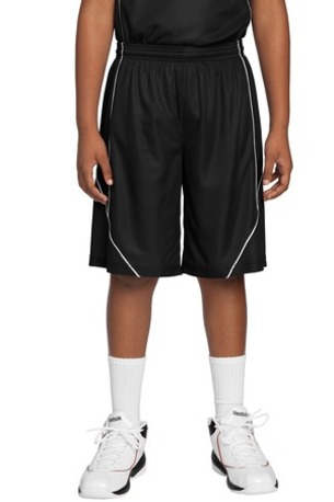 Sport-Tek ®  Youth PosiCharge ®  Mesh Reversible Spliced Short. YT565
