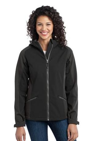 DISCONTINUED  Port Authority ®  Ladies Gradient Hooded Soft Shell Jacket. L312