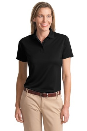 Port Authority® Ladies Poly-Charcoal Blend Pique Polo. L497