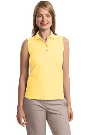 DISCONTINUED  Port Authority ®  Ladies Silk Touch- Sleeveless Polo.  L500SVLS
