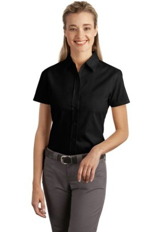 DISCONTINUED  Port Authority® Ladies Short Sleeve Easy Care, Soil Resistant Shirt.  L507