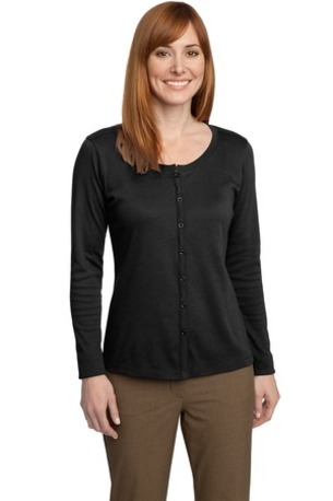 DISCONTINUED  Port Authority ®  Ladies Silk Touch- Interlock Cardigan. L530