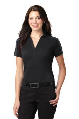 Port Authority ®  Ladies Silk Touch- Performance Colorblock Stripe Polo. L547