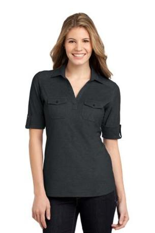 Port Authority ®  Ladies Oxford Pique Double Pocket Polo. L557
