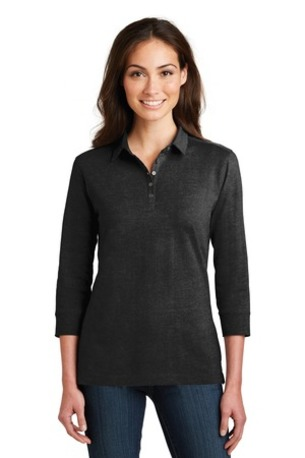 Port Authority ®  Ladies 3/4-Sleeve Meridian Cotton Blend Polo. L578
