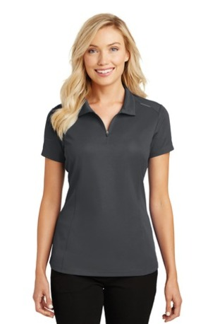 Port Authority ®  Ladies Pinpoint Mesh Zip Polo. L580