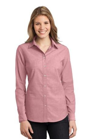 DISCONTINUED  Port Authority ®  Ladies Chambray Shirt. L653