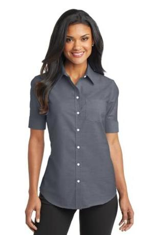 Port Authority ®  Ladies Short Sleeve SuperPro -  Oxford Shirt. L659