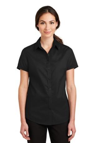 Port Authority ®  Ladies Short Sleeve SuperPro -  Twill Shirt. L664