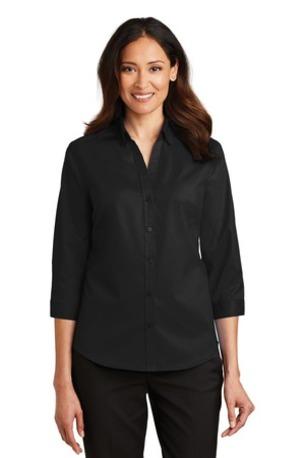Port Authority ®  Ladies 3/4-Sleeve SuperPro -  Twill Shirt. L665