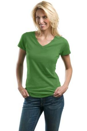 DISCONTINUED  Port Authority ®  Ladies Concept V-Neck Tee. LM1002