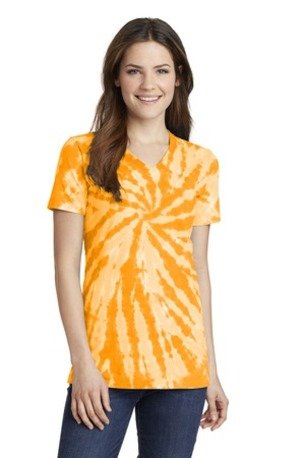 Port & Company ®  Ladies Tie-Dye V-Neck Tee.  LPC147V