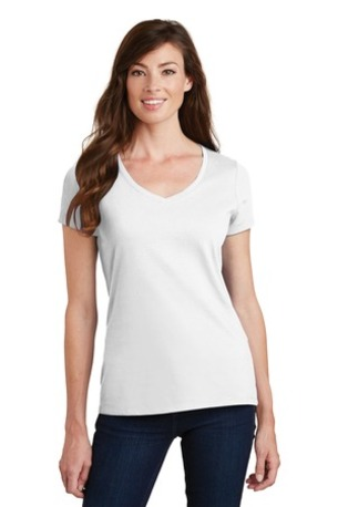Port & Company ®  Ladies Fan Favorite V-Neck Tee. LPC450V