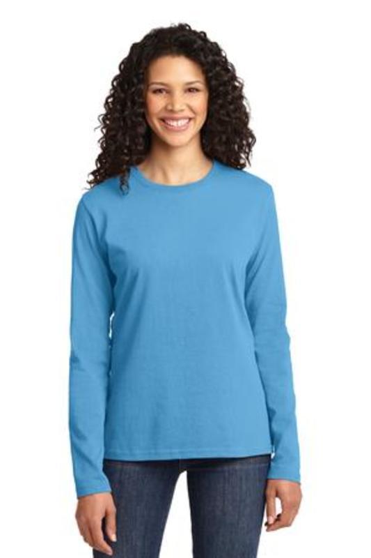 Port & Company ®  Ladies Long Sleeve Core Cotton Tee. LPC54LS