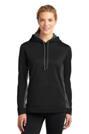 Sport-Tek ®  Ladies Sport-Wick ®  Fleece Colorblock Hooded Pullover. LST235