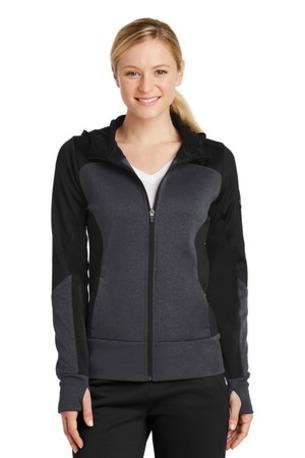 Sport-Tek ®  Ladies Tech Fleece Colorblock Full-Zip Hooded Jacket. LST245