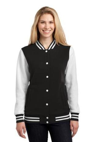 Sport-Tek ®  Ladies Fleece Letterman Jacket. LST270