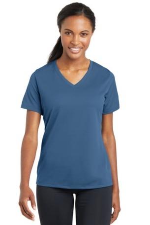 Sport-Tek ®  Ladies PosiCharge ®  RacerMesh -  V-Neck Tee. LST340