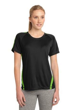 Sport-Tek ®  Ladies Colorblock PosiCharge ®  Competitor- Tee. LST351