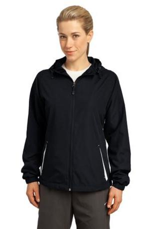 Sport-Tek ®  Ladies Colorblock Hooded Raglan Jacket. LST76