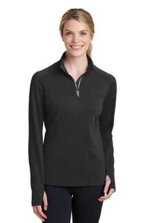 Sport-Tek ®  Ladies Sport-Wick ®  Textured 1/4-Zip Pullover.  LST860